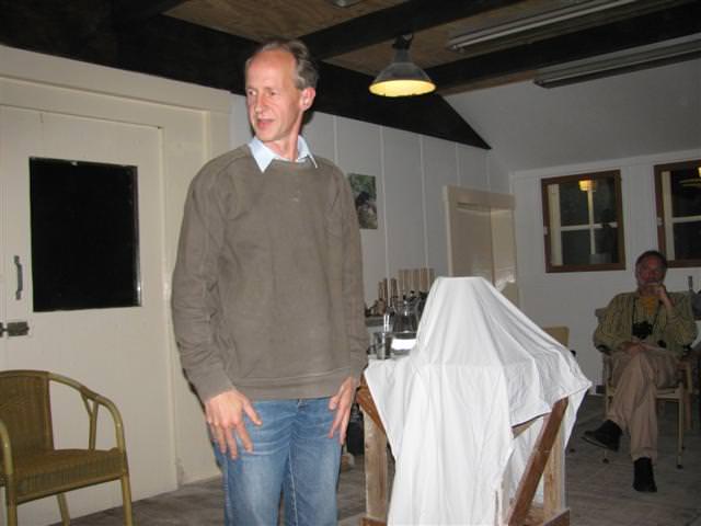 George Kabel verzorgt \'s avonds een lezing