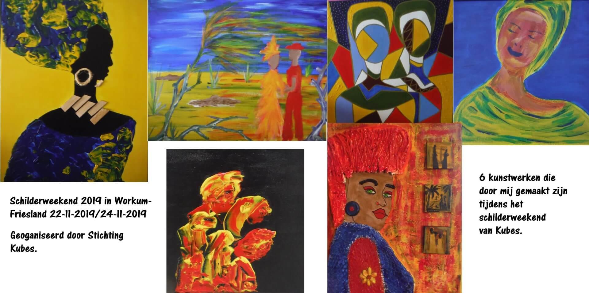 Zes mooie schilderijen van Manola Sint Jago