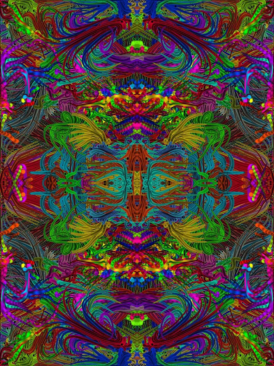 HappyOnderdeel van vierluik DIGITALE schilderijen Herfst, Happy,Bloemen in art-deco stijl en winter27 x 20 cmDigitale schildering2015 en 2016