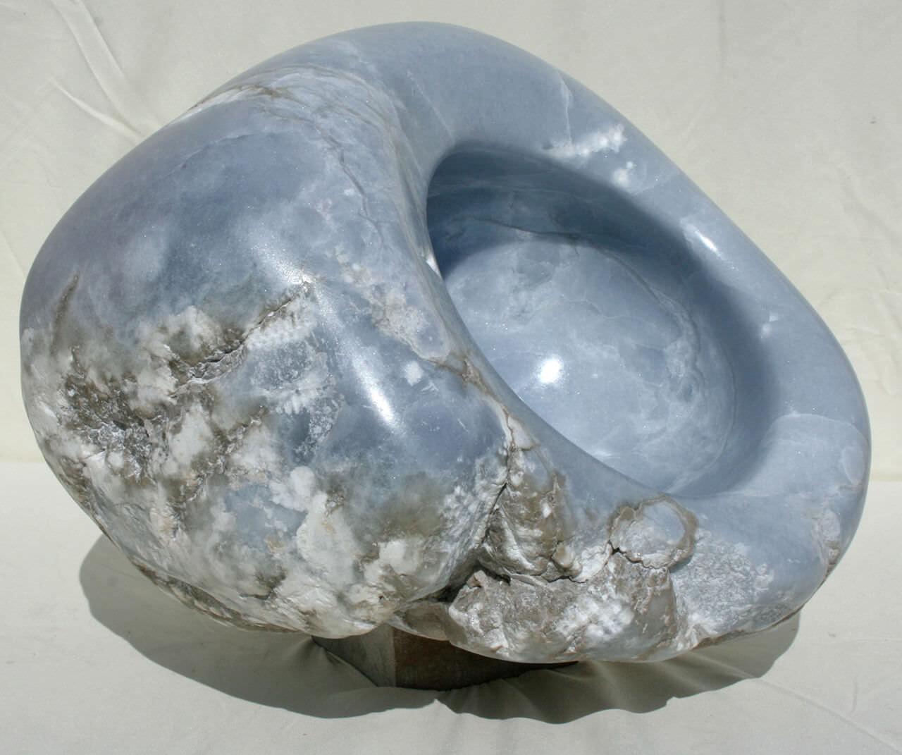Blue Stone32 x 38 x 32Blauwe Albast en hout