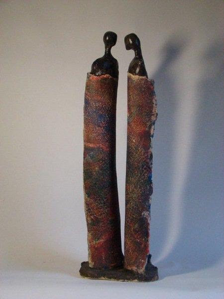 Belofte  Chamotte klei, oxides en pigmenten  20 x 60 x 15 cm. 2016